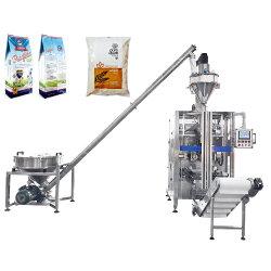 자동 500g 1kg 5kg 파우더 마개 수직 폼 필 씰 기계, 밀 메이즈 라이스 가루 가루 가루 커피 세제 가루 오거 충전 포장 기계