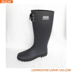 Alta Unissexo Caça Navy botas de borracha, Botas de chuva