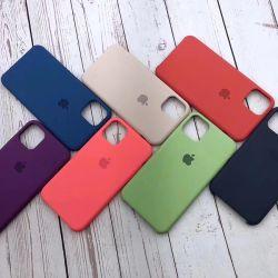 Telefone celular Liquid Silicone na tampa traseira com à prova de logotipo caso telefone para iPhone caso 6/6s/6plus