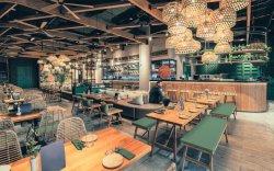 Thailand-Gaststätte, die Möbel-das natürliche Teakholz-Holz speist Möbel speist
