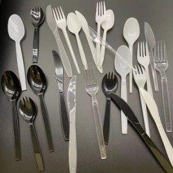 Ложечка вилочного захвата ножа Салат Фруктовый суши кухонных PS набор инструментов столовые приборы новые продукты рейсов деревянные одноразовые вилки ножи ложки столовых приборов пластиковой посуды
