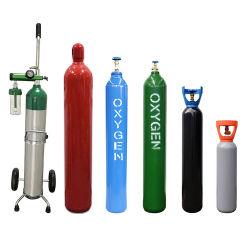 سعر تنافسي جودة عالية 50 لترًا أسطوانة غاز الأكسجين عالية الضغط مع الصمام