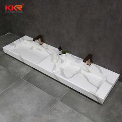 الحجر الصّناعيّ ريسيلك ريسين كوريان ذو السطح الصلب تعليق الجدار الوزاري فندق فانيتي أبيض أسود أبيض ورخام مخصص حوض الغسيل