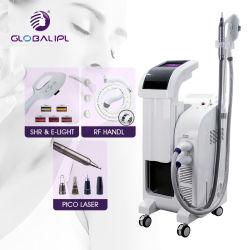 3 en 1 IPL SHR RF Opt YAG láser IPL Eliminación del vello E Rejuvenecimiento de la piel ligera blanqueamiento Eliminación del tatuaje Multifuncional Equipo de Belleza