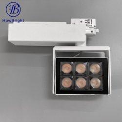 ما مدى سطوع الإضاءة العصرية المصنوعة من الكوب الأسود والأبيض والأسود اللامع التي تبلغ 30 واط في الداخل ضوء جنزير LED رباعي الأسلاك ذو موضع محدد قابل للضبط