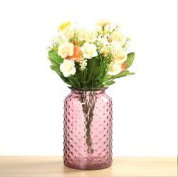 ديكور الفندق الأسطوانة الجزء المركزي من الزجاج جولة زهرة الزهرة بالنسبة للغرفة الديكور