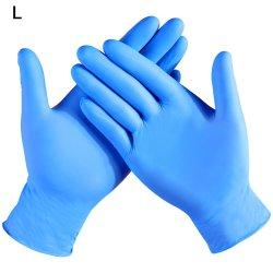 Guanti durevoli resistenti all'uso a gettare di pulizia della famiglia dei guanti dell'alimento del latice di gomma del nitrile dei guanti 100PCS/Box del nitrile