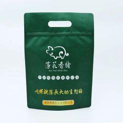 Großverkauf lamellierter unteres Mattstützblech-Fastfood- mit Reißverschlussnahrungsmittelbeutel mit Griff