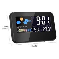 Termometro per interni, display LCD a colori, stazione di previsione con calendario E retroilluminazione del controllo del suono