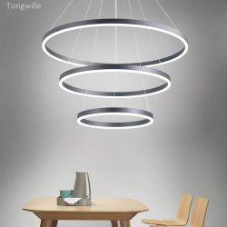 Profilo di alluminio Pendant del montaggio LED della stanza dell'ufficio del cerchio per l'indicatore luminoso circolare dell'anello con alloggiamento nero/bianco/d'argento