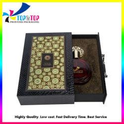 Diseño personalizado de la cubierta de poliuretano de lujo Cajón caja rígida de perfume de Oriente Medio estilo papel deslizando el Fabricante de Caja de regalo