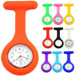 Vigilanza di Fob della tunica del Brooch della vigilanza dell'infermiera del silicone delle vigilanze Pocket di modo con il dottore libero Medical Reloj De Bolsillo della batteria