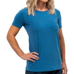 No Verão Casual Blank T-shirt gola redonda manga curta