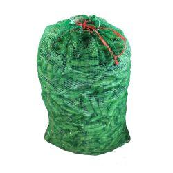 China Großhandel 10kg 20kg 25kg 50kg Drawstring Brennholz pflanzliche Früchte PE Raschel Netzbeutel für Bohnen-Kartoffelzwiebeln