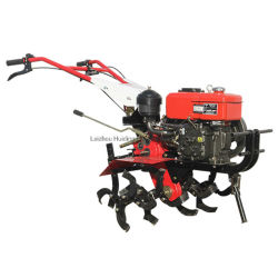 Mini Agriculture Farm grondmachine Diesel benzinemotor Mini Power Met de hand bediende tuinfrees draaiende trekker met wieg Cultivator Rotavator roterende tuinfrees Prijs