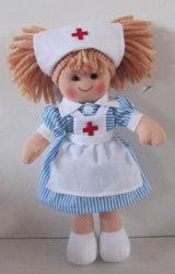 Comercio al por mayor de felpa suave Peluche enfermera Rag Doll juguetes para bebés