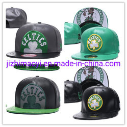Cappello su ordinazione della protezione di Snapback di sport di Boston delle protezioni di cuoio all'ingrosso dei Celtics