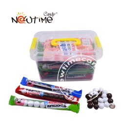 NTC20114 weiße u. schwarze Schokoladen-Bohnen im Kasten