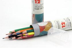 7 polegada de 12 cores canhão com borracha lápis de plástico, lápis de desenho com impressão de logotipo