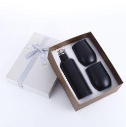 Conjunto de oferta capa térmica isolados basculante 1 Conjunto de garrafa de vinho com 2 ovo Leite Café caneca