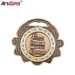 Tourner lentement sain Médaille personnalisé avec logo d'impression