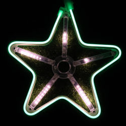 LED-Weihnachtslicht Stars Neonlichter/mit Schneefällen