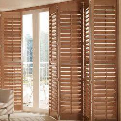 Ajustável de fábrica Bifold Interior da janela de madeira persianas de Plantio