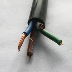H05VV-F 4G 1.5mm2電気適用範囲が広いケーブルワイヤー家の電線の電源コード