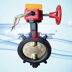 Полупроводниковая пластина двухстворчатый клапан с тампером FM/UL ковких чугунных утвержденных