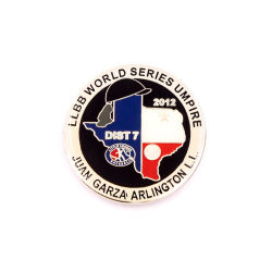 Esmalte Duro promocionales insignia del botón de béisbol de los parches de PVC de recuerdos de RFID
