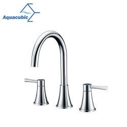 Aquacubic Watersense com três orifícios de poupança de água de torneira para lavatório de loiça sanitária (AF9280-6)