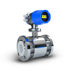 Medidor de flujo magnético Caudalímetro electromagnético de agua líquida Digital transmisor