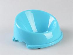 Adorável de PP de plástico durável Taça Pet Redondo/Dog Bowl/Cat Taça com impressões de pata de cachorro para venda