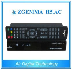 Receptor de TV digital de alta tecnologia DVB-S2+sintonizadores duplos ATSC Zgemma H5. AC para o México/América Latina