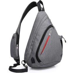 Траверсу мешок, Crossbody рюкзак веревки сумки через плечо водонепроницаемый мешок полотно серого цвета Rept RFID