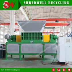 De dubbele/Ontvezelmachine van Twee Schacht voor het Recycling van het Schroot van het Metaal/Gebruikt Afval Banden/Soild/Plastiek/Hout