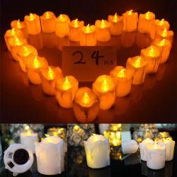 Luz de Vela Eletrônica de LED de cor amarela piscando Vela electrónica presente de Natal da lâmpada de luz de velas de casamento