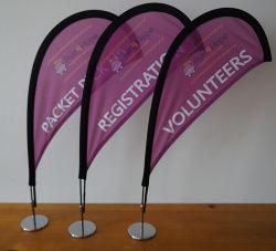 Quality 2.5FT tall Mini-Mesa/Desktop Bow Lágrima Banner Flag Display