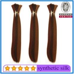 Alta Qualidade sintética Reta Entrelaçando Cabelos Cabelos em bruto para extensões de cabelo produtos de cabelo