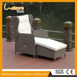 Mode classique moderne de meubles de jardin Extérieur profilé en aluminium de la plage de pliage Chaise en rotin