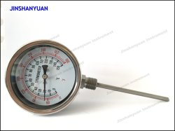 Bt-015 Einstellbarer Crimp Ring Bimetall Edelstahlgehäuse Bimetall Kochen Thermometer für Industrie