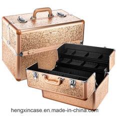 Sparkle & Shine Gold cintilantes XL Organizador de comboios de reposição caso Cosméticos