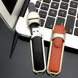 Nouveau produit cuir lecteur Flash USB 4GB 8Go et 16 Go et 32 Go USB 2.0 3.0 Le Flash Mémoire stick cadeaux Pendrive logo personnalisé de l'impression Flashdriver USB