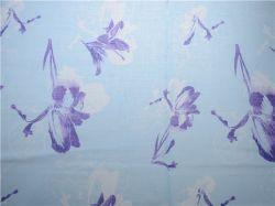 인쇄 모시 면 직물 꽃 인쇄 면 직물 (DSC-4122)