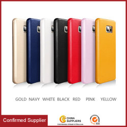 Classic Design Soft PU Leder Telefon Stoßfänger Fall, PU-Hülle Shell für Samsung Note 5 7 8
