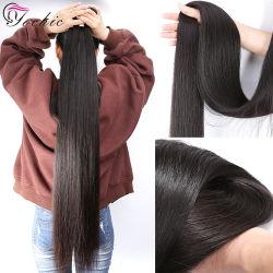 10A recta sin procesar paquetes de cabello virgen brasileña comercio al por mayor 100 Remy extensiones de cabello humano.