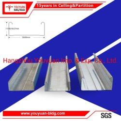 El marco de metal de acero Placa de yeso Chnnel suspensión sistema de techo