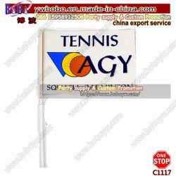Comercio al por mayor los logotipos personalizados en papel de promoción de la mano bandera ondeando la bandera bandera de la playa (C1117)