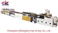 Le WPC PVC mousse libre/Feuille de la formation de mousse/board/Panel-de-chaussée panneau décoratif Ligne d'Extrusion