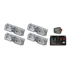 Vehículo de emergencia de patrones intermitente 24W 12V LED de luces de rejilla de luz estroboscópica coche